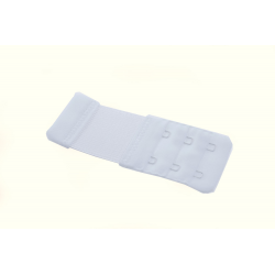 Przedłużacz biustonosza 2 rzędowy 35mm biały z gumą