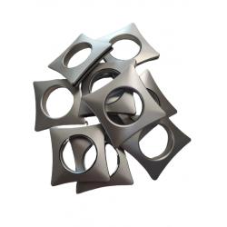 Przelotka kwadratowa 37.60 srebrny jasny